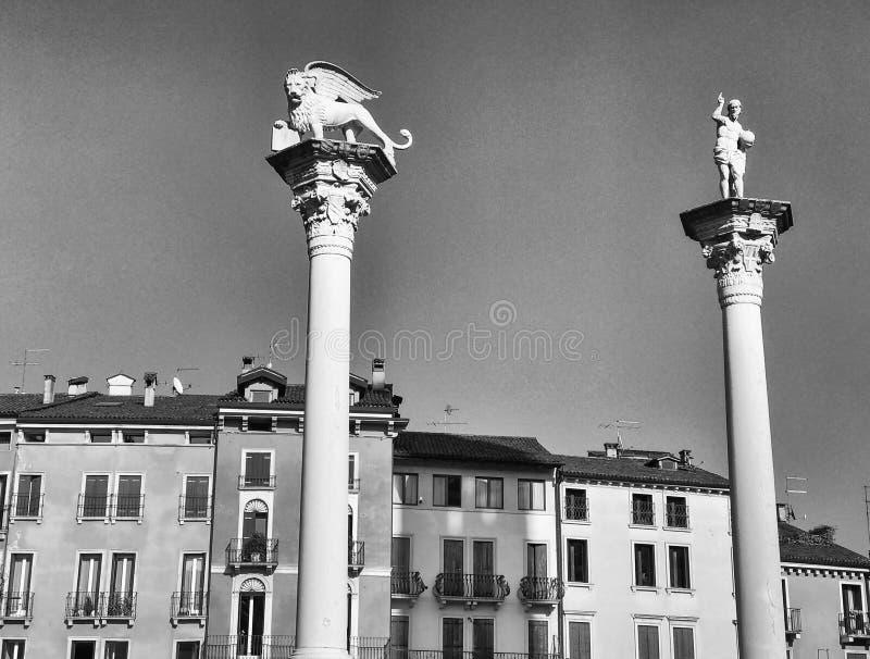 Medeltida arkitektur av Vicenza, Italien arkivfoton