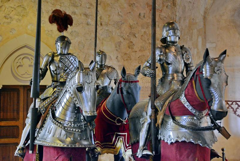 medeltida armorriddare royaltyfri fotografi