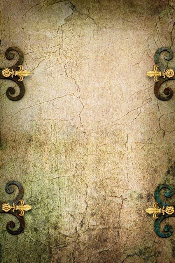 Medeltida bakgrund för Art Stone Gothic fantasi arkivfoton