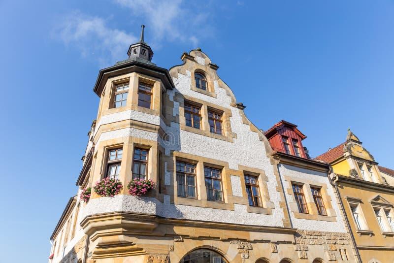 Medeltida bayersk stad Sesslach i Tyskland arkivbilder
