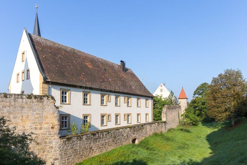 Medeltida bayersk stad Sesslach i Tyskland royaltyfri foto