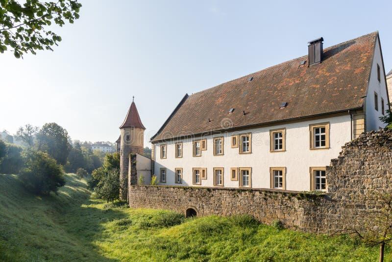 Medeltida bayersk stad Sesslach i Tyskland fotografering för bildbyråer