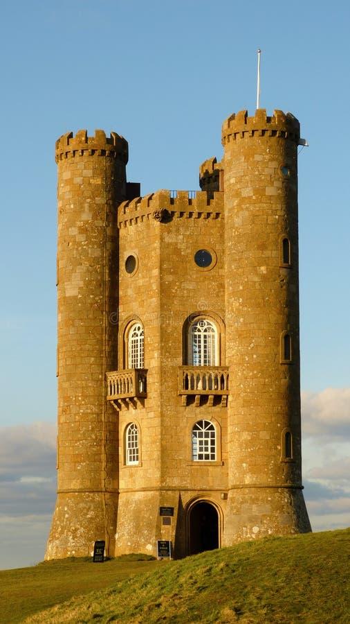 Medeltida Broadway torn i Cotswolden, Worcestershire, England, Förenade kungariket royaltyfria bilder