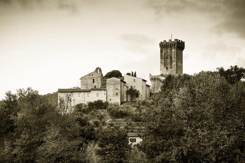 Medeltida citadell av Vicopisano Italien-Tuscany-Pisa royaltyfria bilder
