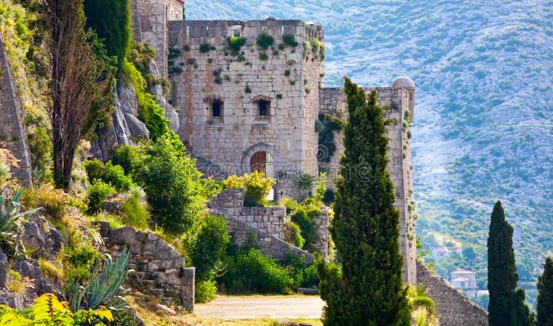 medeltida croatia fästningklis royaltyfri bild