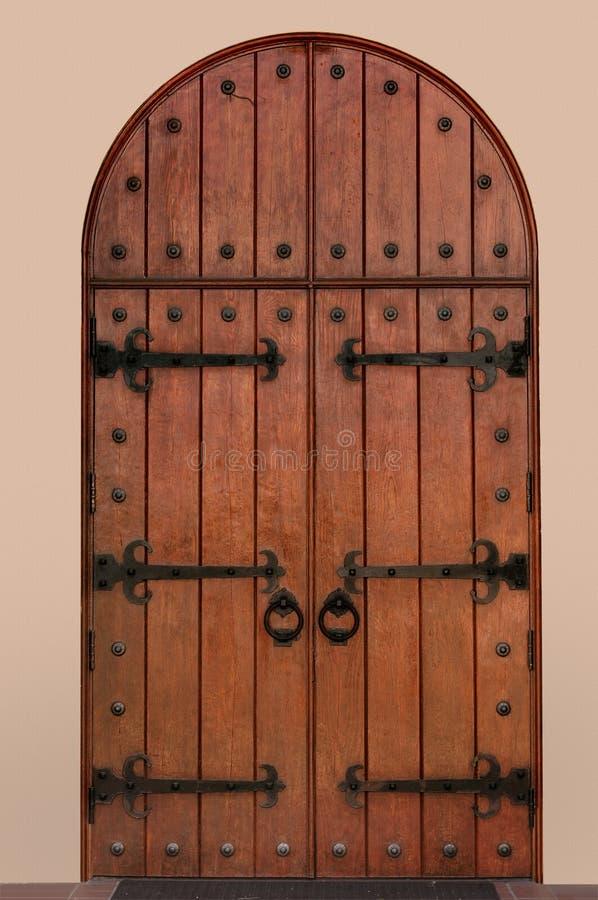 medeltida dörr royaltyfri fotografi