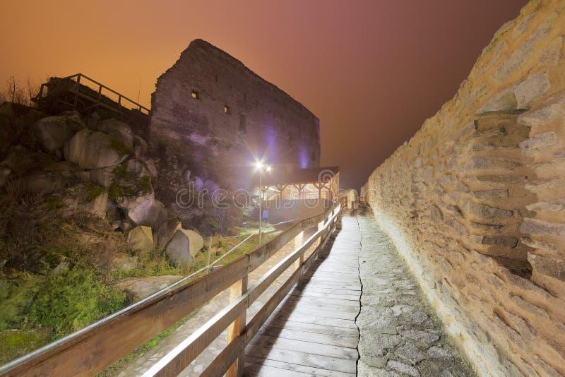 Medeltida Deva Fortress i Europa, Rumänien arkivfoton