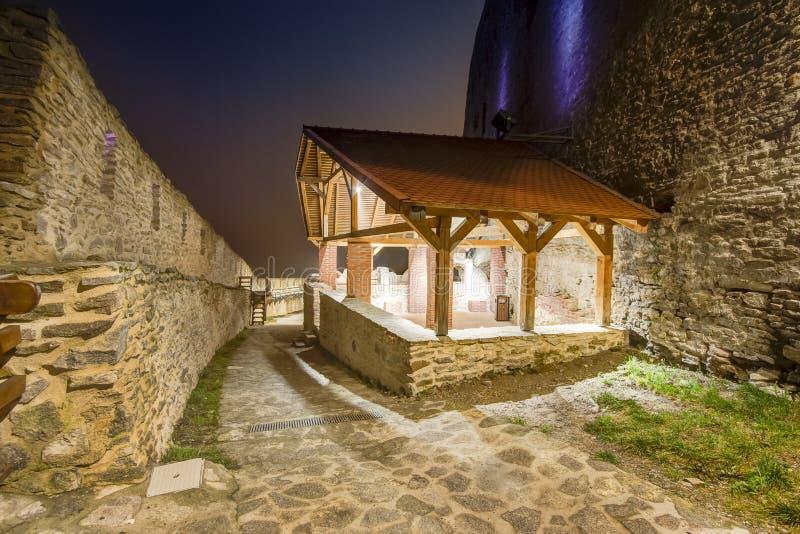 Medeltida Deva Fortress i Europa, Rumänien royaltyfria foton