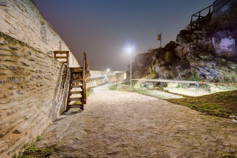 Medeltida Deva Fortress i Europa, Rumänien royaltyfri fotografi