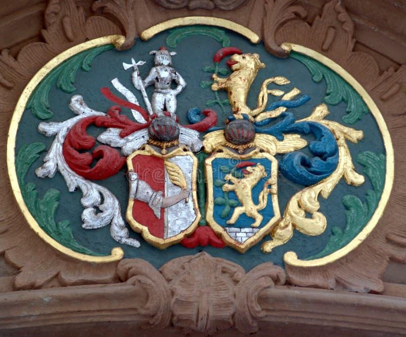 medeltida emblem arkivbild