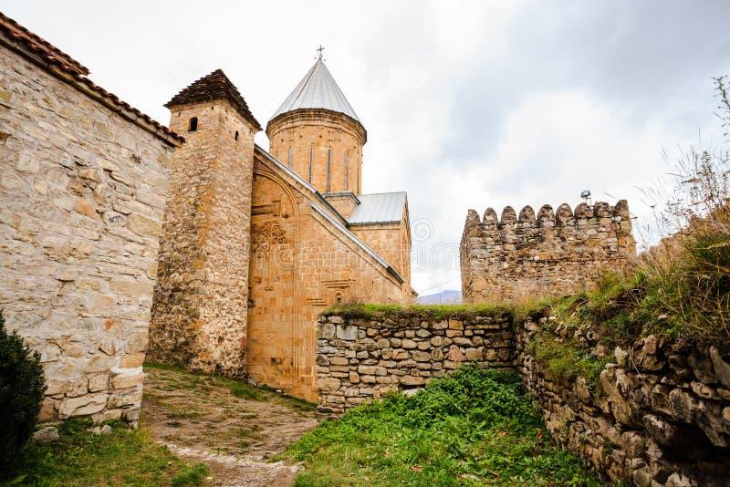 Medeltida fästning Ananuri royaltyfri foto