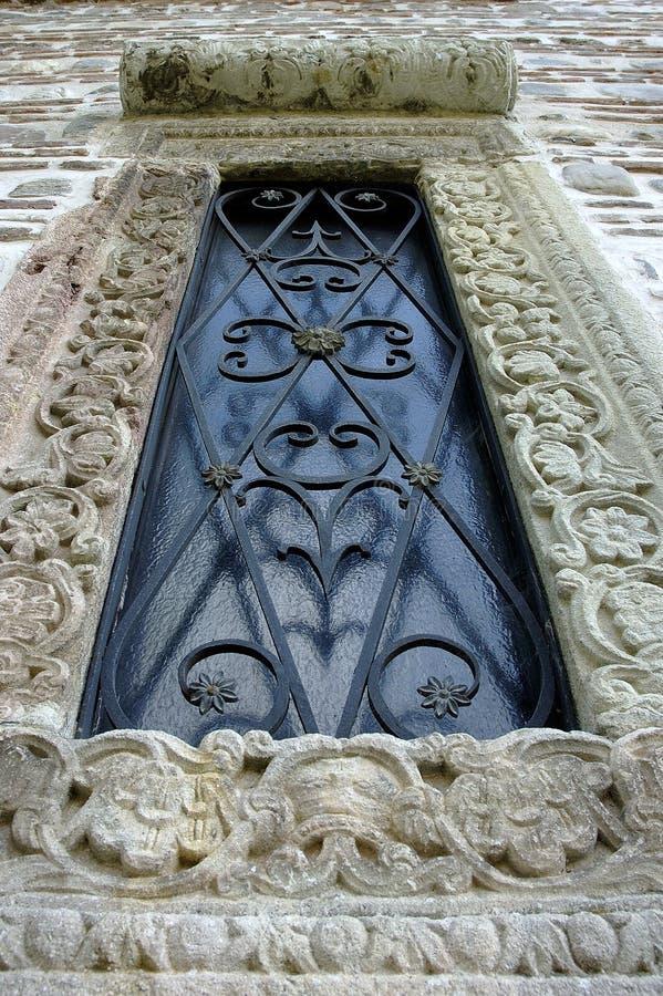 medeltida fönster arkivfoto