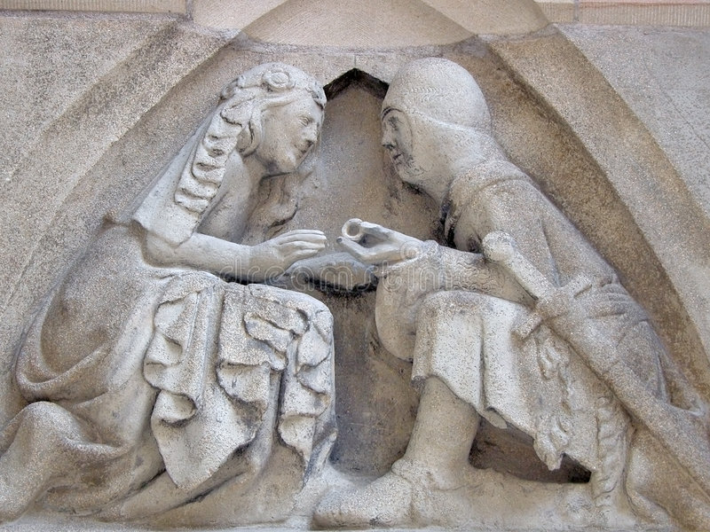 medeltida förpliktelse arkivfoto