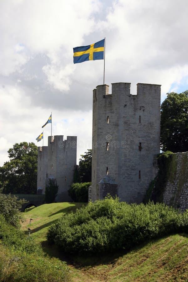 medeltida försvarlinje royaltyfria bilder