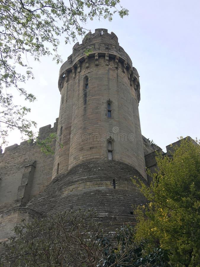 Medeltida forntida f?rg?ngen historia f?r Warwick slottF?renade kungariket England arv fotografering för bildbyråer