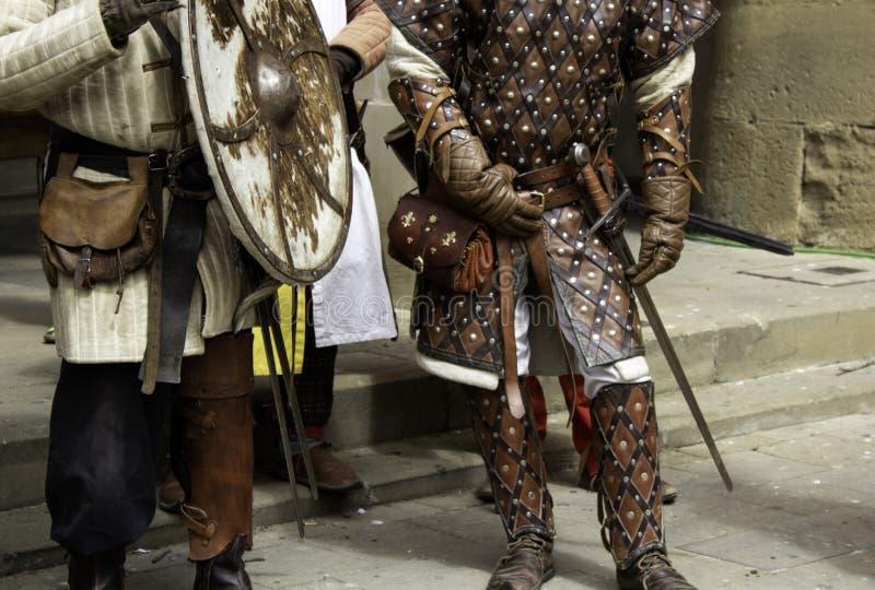 Medeltida harneskhjälm royaltyfri bild