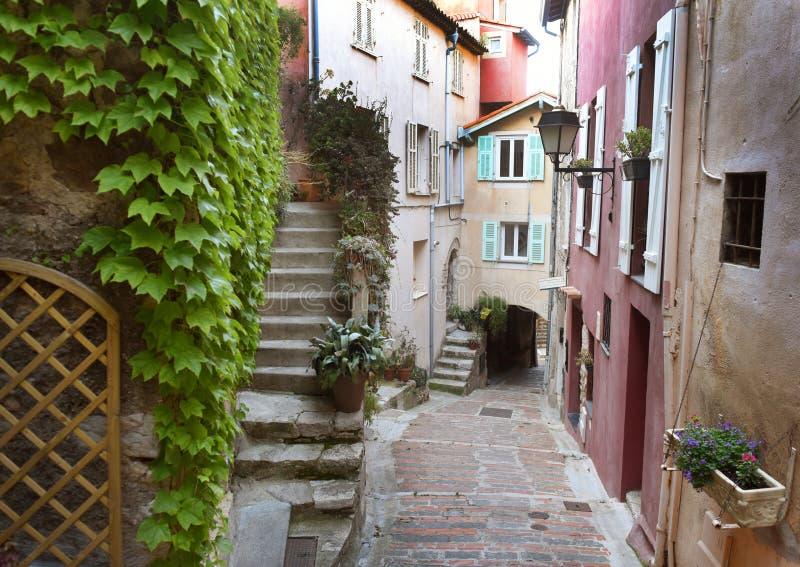 Medeltida by i Roquebrune-Lock-svalan, Provence-Alpes-skjul D 'Azur, Frankrike Cote d'Azur av franska Riviera royaltyfria bilder