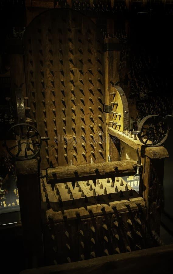 Medeltida instrument av tortyr royaltyfria foton
