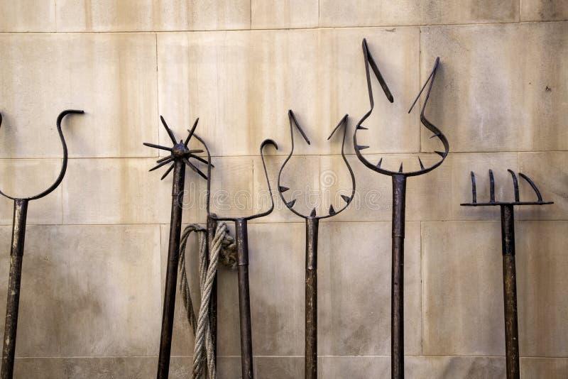 Medeltida instrument av tortyr royaltyfri bild