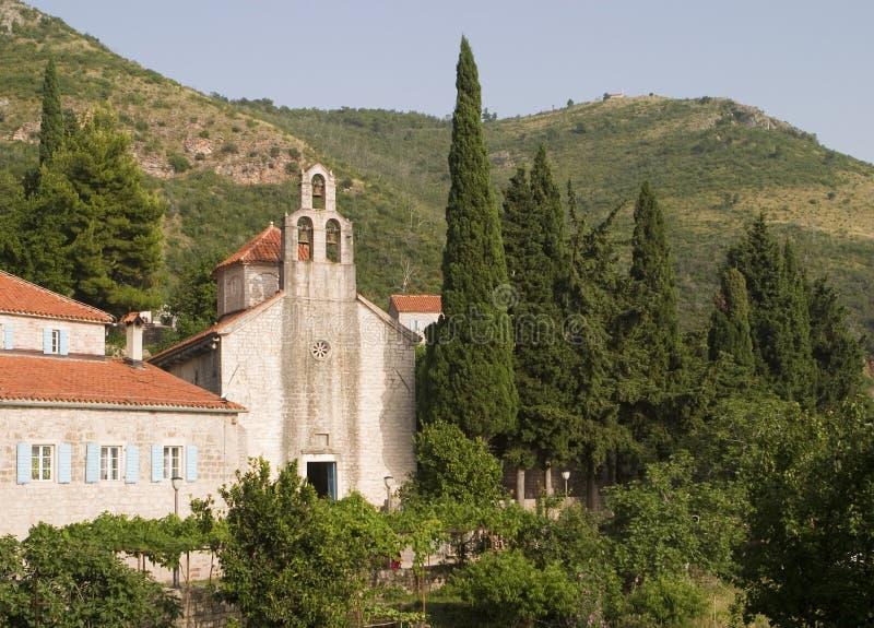 medeltida kloster montenegro royaltyfri bild