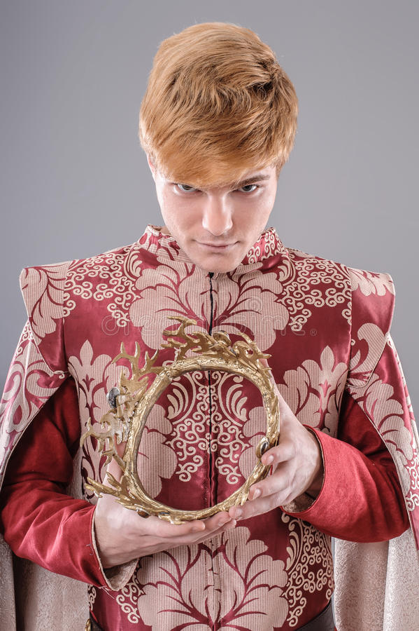 medeltida konung royaltyfri fotografi