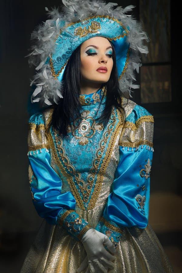 medeltida kvinna för dräkt royaltyfria bilder