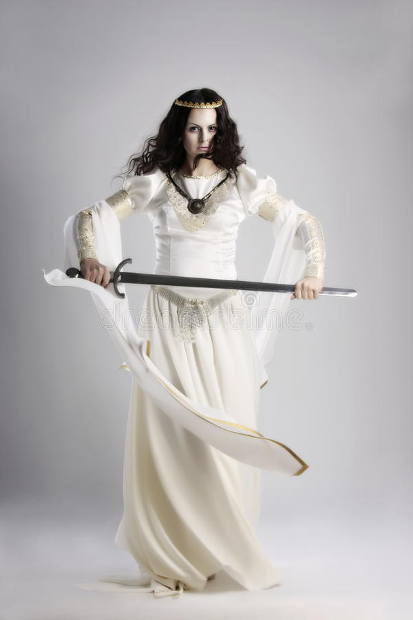 medeltida lady arkivfoton
