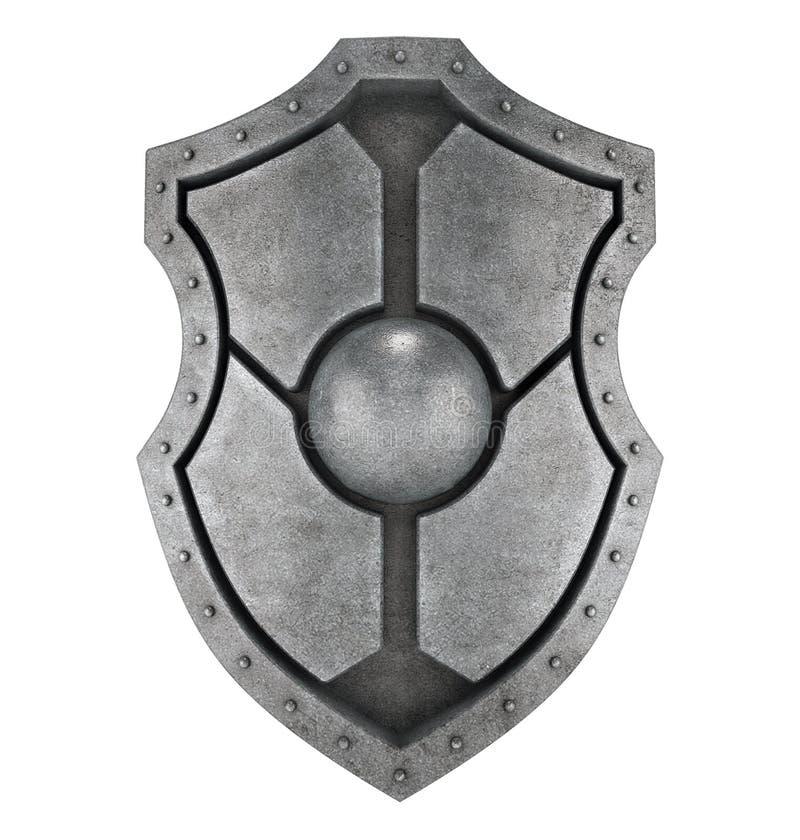 medeltida sköld royaltyfri illustrationer
