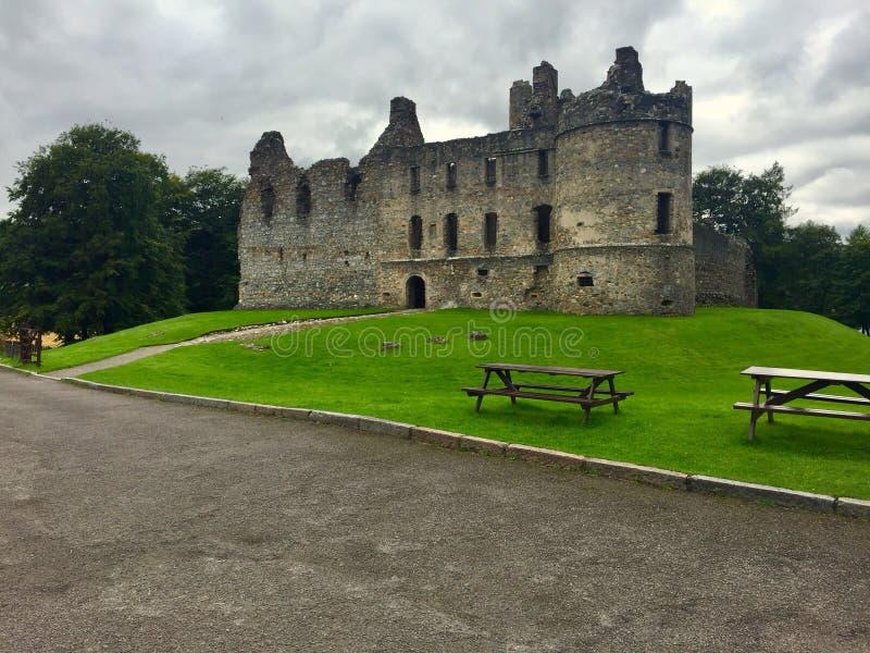 Medeltida skotsk slott arkivfoton