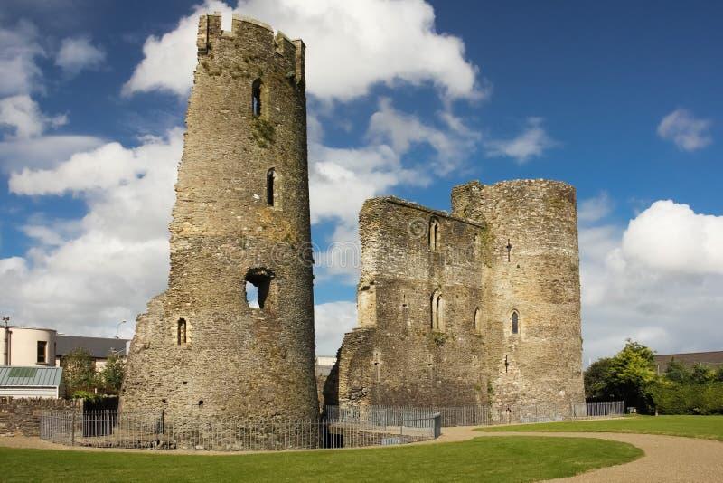 medeltida slott ferns Co Wexford ireland fotografering för bildbyråer