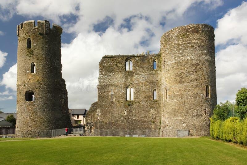 medeltida slott ferns Co Wexford ireland royaltyfria bilder