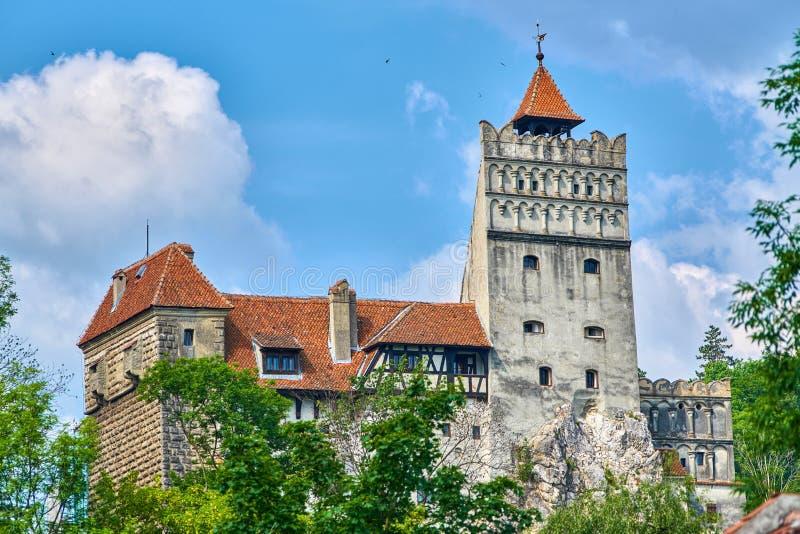 Medeltida slott i kli, fästning för Transylvania, Rumänien Dracula ` s fotografering för bildbyråer