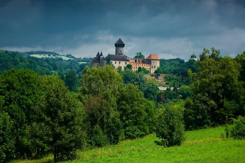 Medeltida slott Sovinec. royaltyfri fotografi