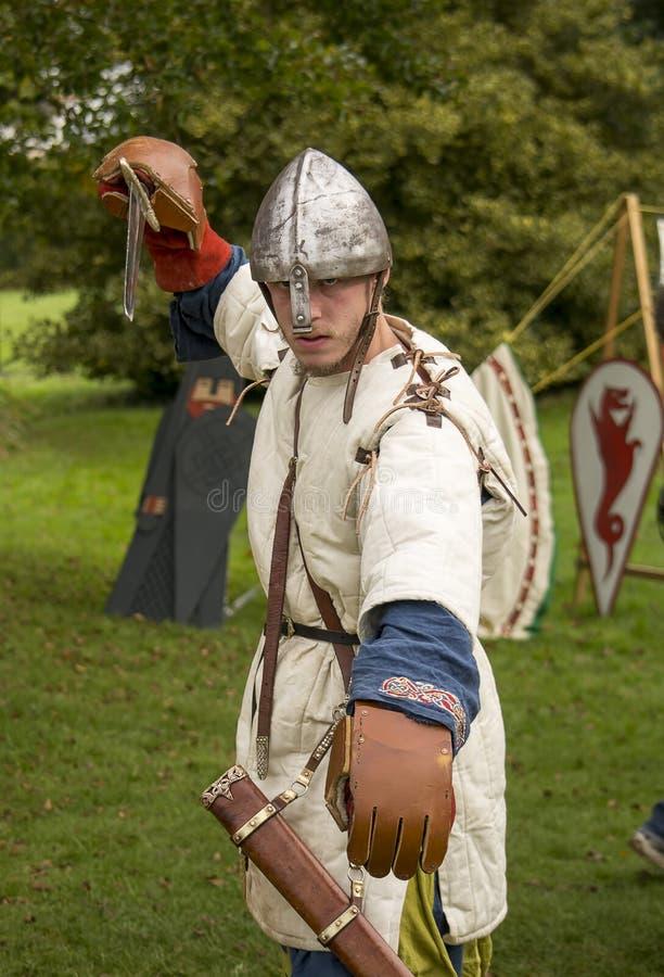 medeltida soldat royaltyfri foto