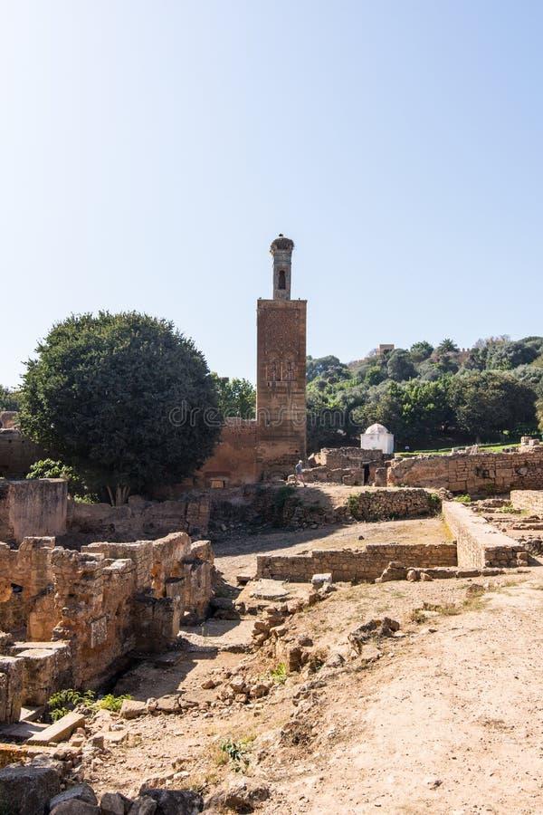 Medeltida stärkt muslimsk nekropol som lokaliseras i Rabat royaltyfria bilder
