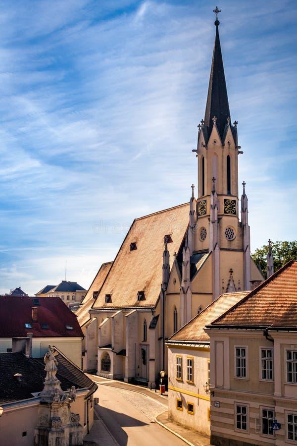 Medeltida stad av Melk i Österrike royaltyfri fotografi