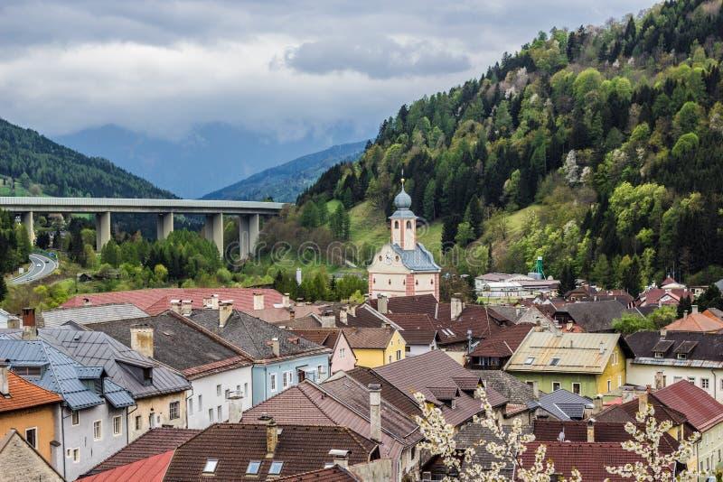 medeltida stad Gmuend Österrike royaltyfri fotografi
