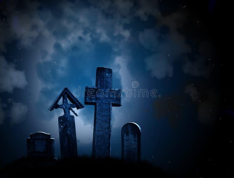 Medeltida stenkors och gravstenar arkivfoto