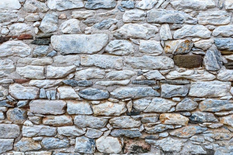 medeltida stenvägg för bakgrund arkivfoto