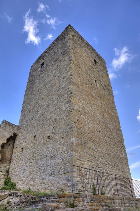 medeltida torn för fästning arkivbilder