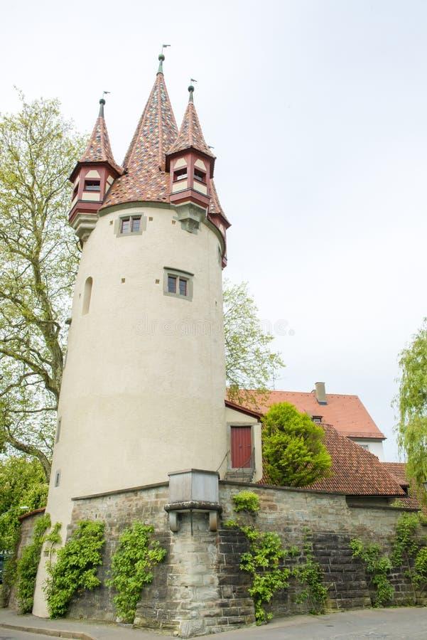 Medeltida torn i Tyskland royaltyfria foton