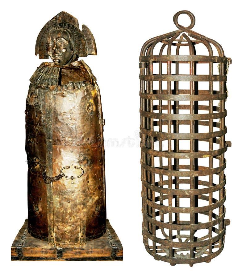 medeltida tortyr för utrustning arkivbild