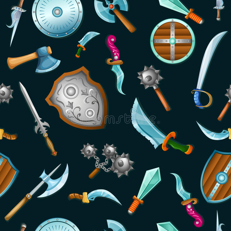 Medeltida vapenmodell vektor illustrationer