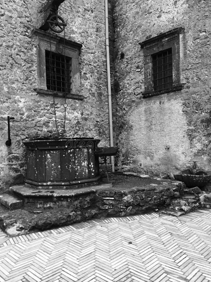 Medeltida Well arkivfoton