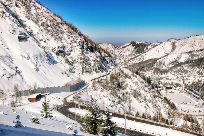 Medeo (Medeu) lodowisko w Almaty, Kazachstan fotografia stock