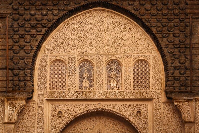 Medersa ben Youssef detalhe marrakesh marrocos imagens de stock royalty free