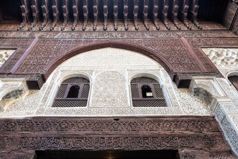 Medersa Bou Inania可兰经的学校,摩洛哥 免版税库存图片