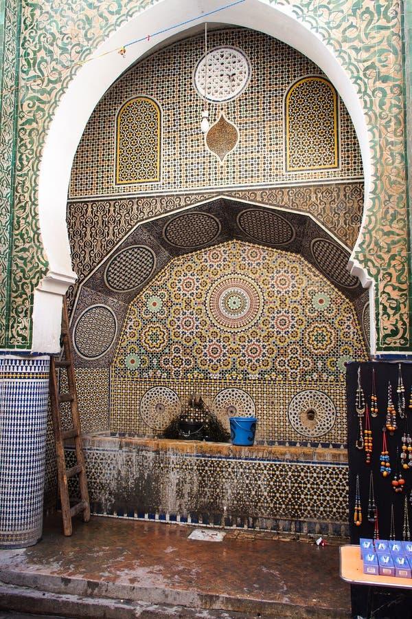 Medersa Bou Inania is een madrasa in Fes, Marokko royalty-vrije stock foto's