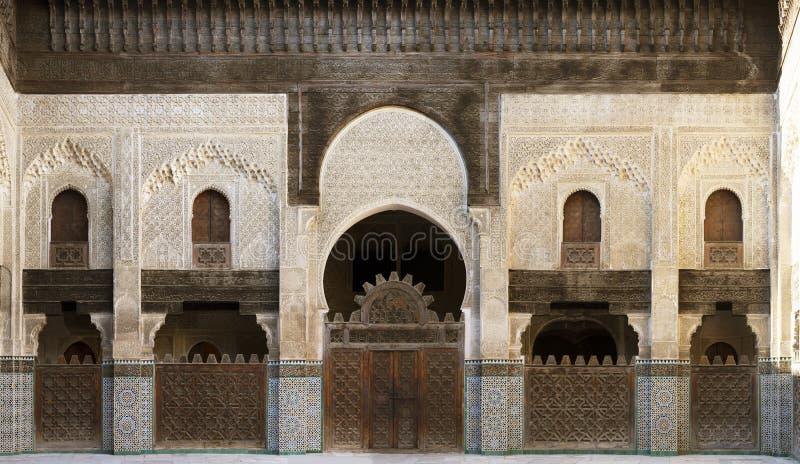 Medersa i Marrakech arkivbilder