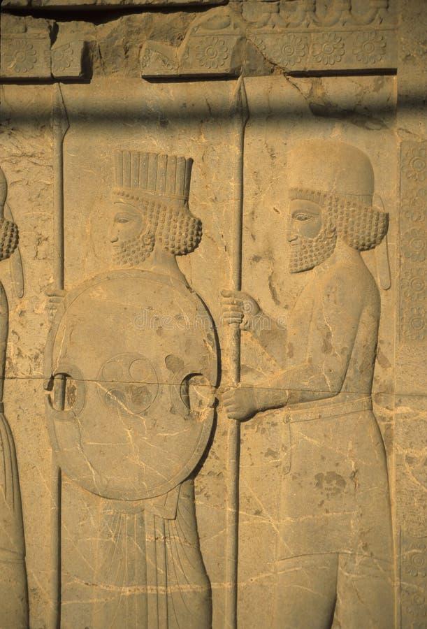 Medes e persas - soldados antigos imagem de stock